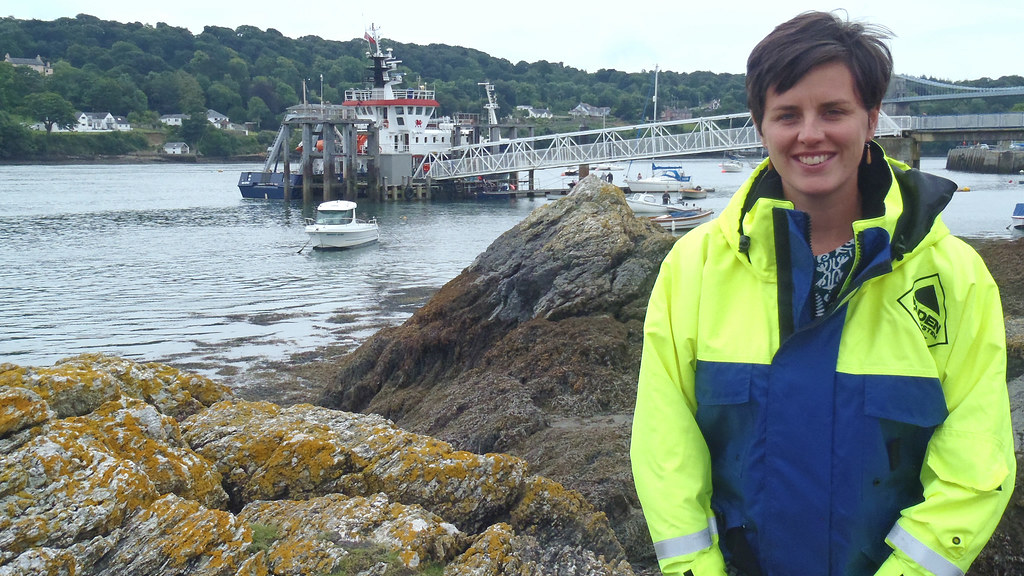 Natural Sciences graduate Sophie Ward at the Welsh coast