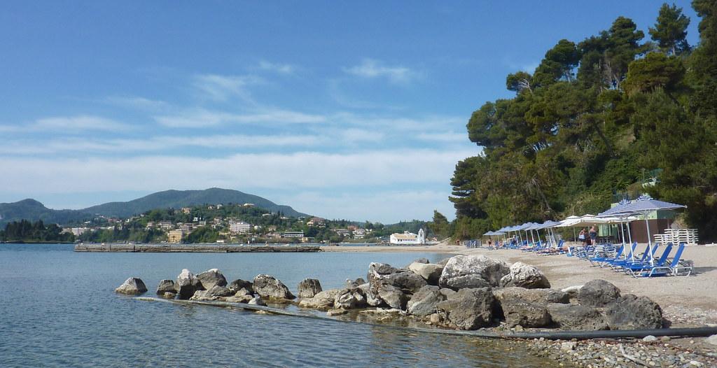Korfu Pláž Kanoni