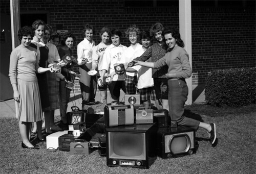 Florida High School girls with donated items they collected in Tallahassee | by State Library and Archives of Florida