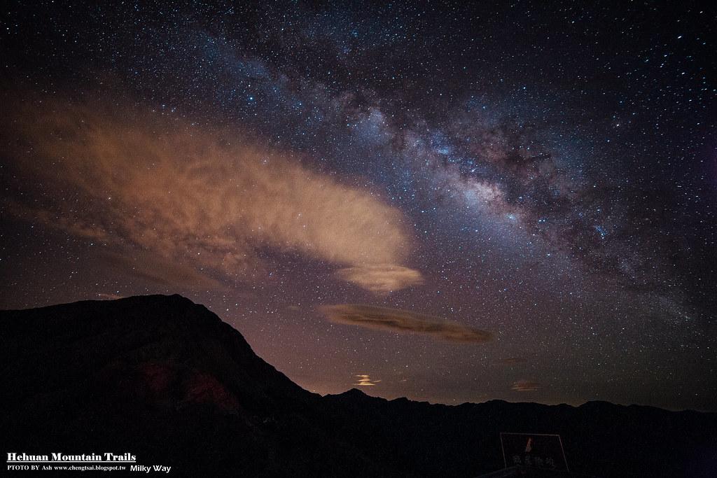 合歡山 - 銀河 14mm