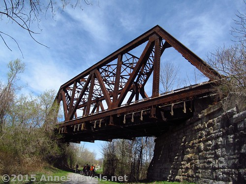 The Lehigh Valley Trail Bridge over the Auburn Trail, Victor, New York
