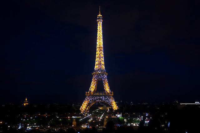The Eiffel Tower seen from Trocadeo, Paris
