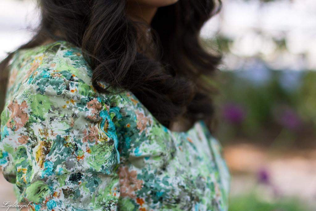 vintage floral dress, turquoise snake skin clutch-8.jpg