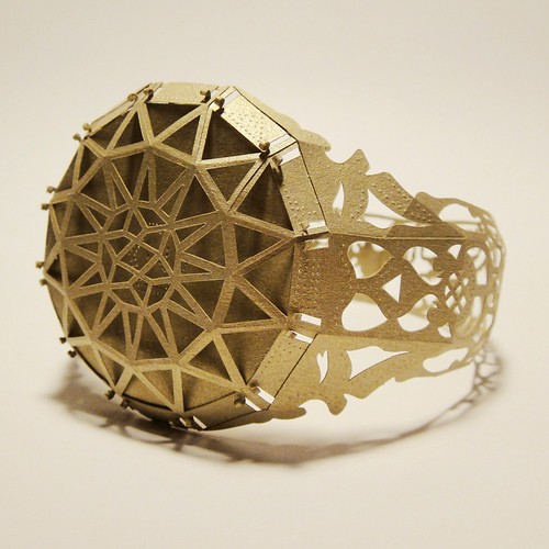 Dimensional Cut Paper Ring by Norman Von Schmeling