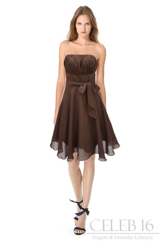 Brown And Pink Bridesmaid Dresses Via Gown Ideas Blog