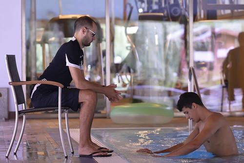 Tempo di corsa in acqua per fontecchio olimpia milano for Piscina olimpia milano