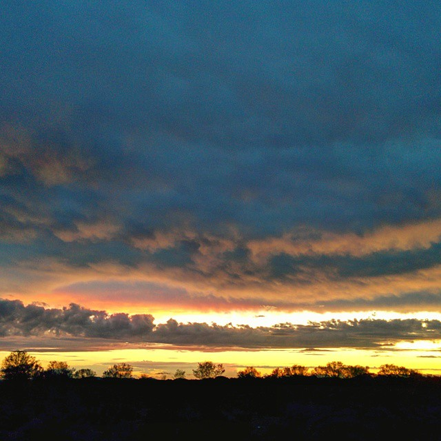 First outback sunset. Quilpie, QLD.