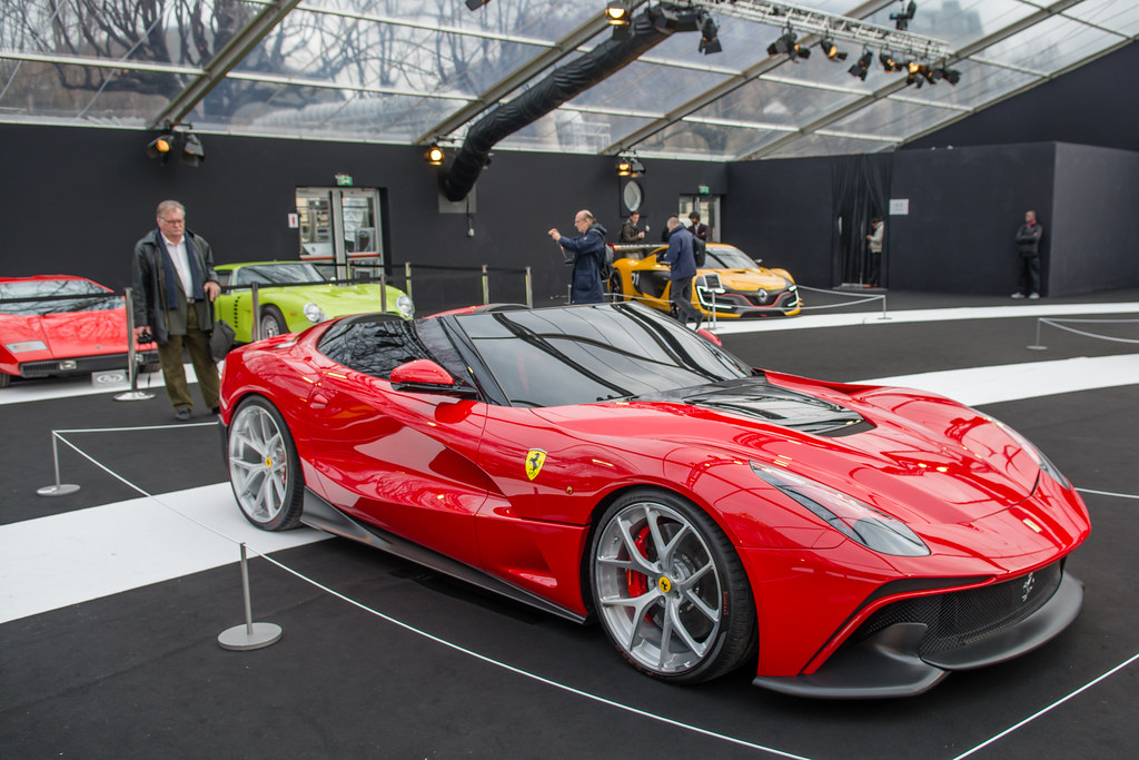 2014 ferrari f12 trs 2015 salon des concept car invalides flickr. Black Bedroom Furniture Sets. Home Design Ideas