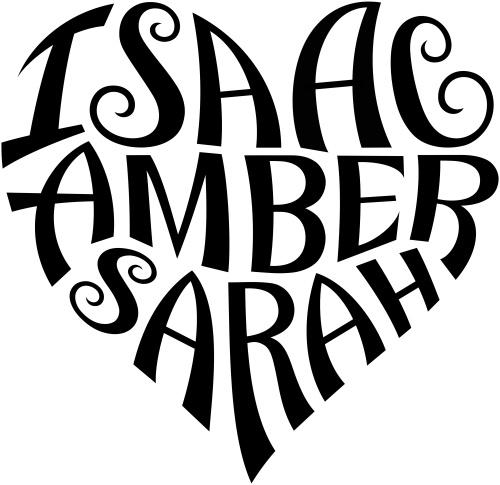 isaac amber sarah heart design a custom design o flickr. Black Bedroom Furniture Sets. Home Design Ideas