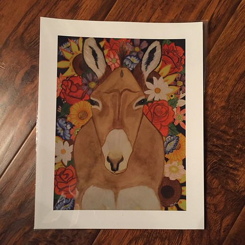 133:365 The newest addition to my wall of animal art: a print of @sabaus 's Donkey painting. I can't wait to get it framed and hung.