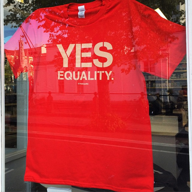 Let your vote reflect your respect for equality and love. #marref #yes #yesequality #22may