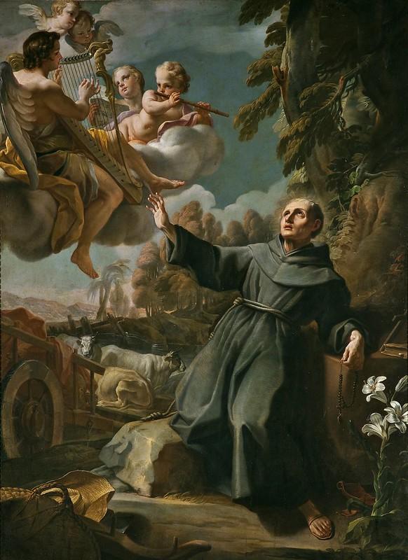 Mariano Salvador Maella - Visione del Beato Sebastiano dell'Apparizione (c.1789)