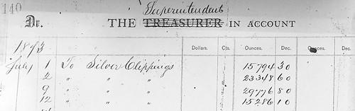 1873 Philadelphia Mint clippings receipt