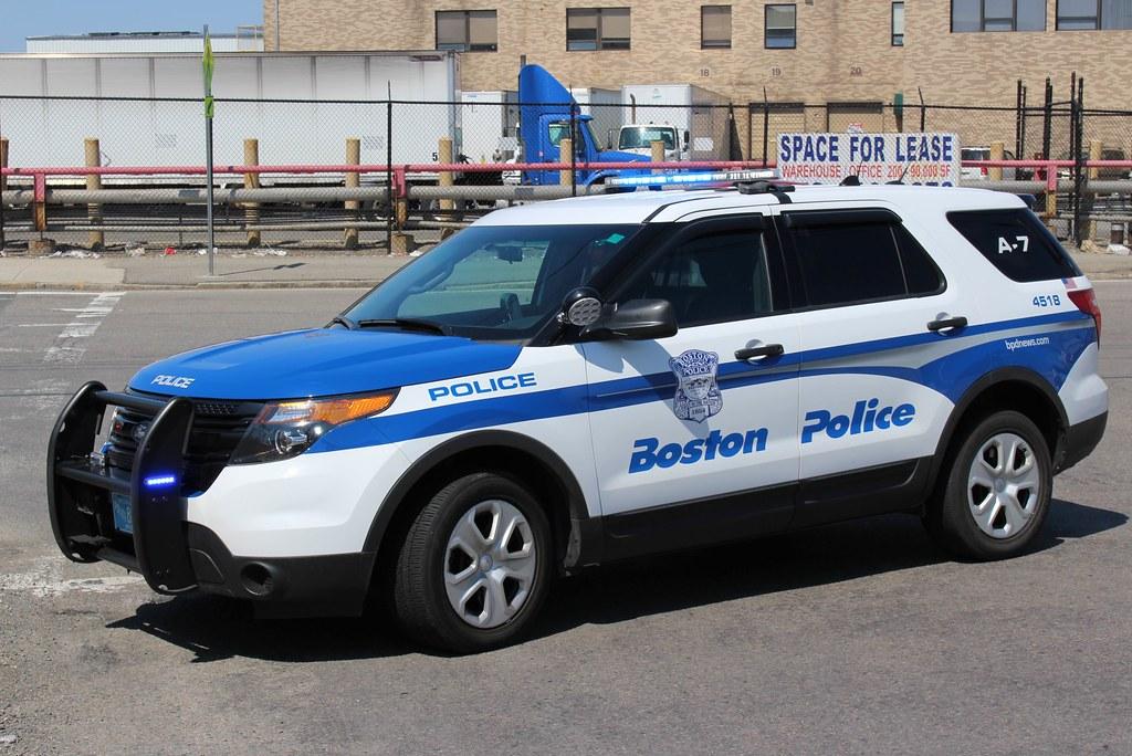Boston Police Ford Explorer In Boston Massachusetts