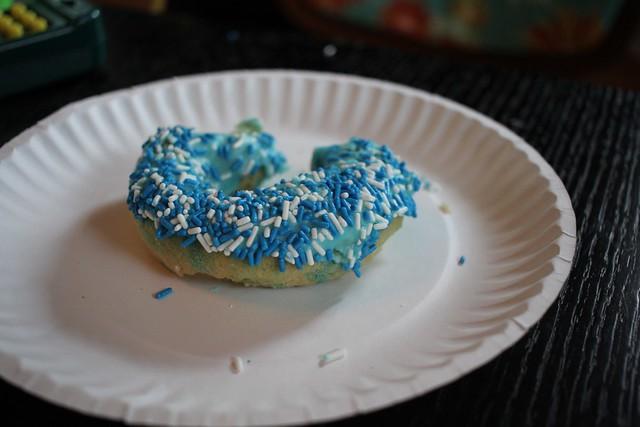 Strange Donuts-blue sprinkles