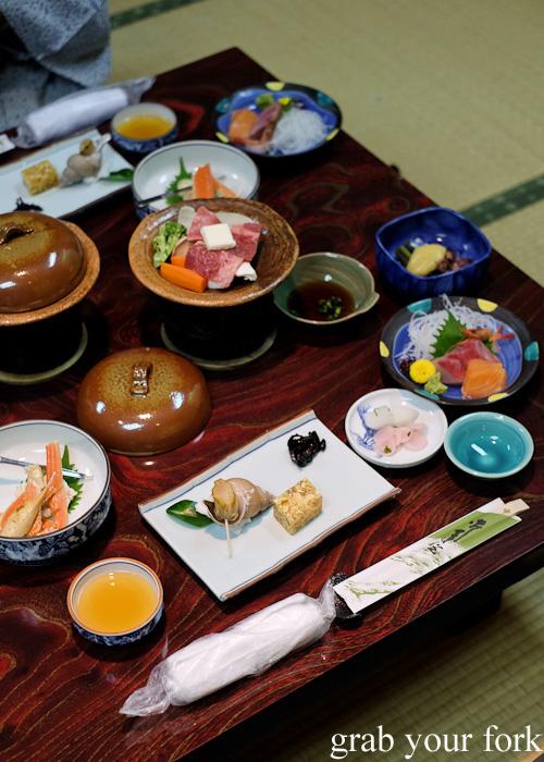 Ryokan kaiseki dinner at Nakayasu Ryokan, Kanazawa