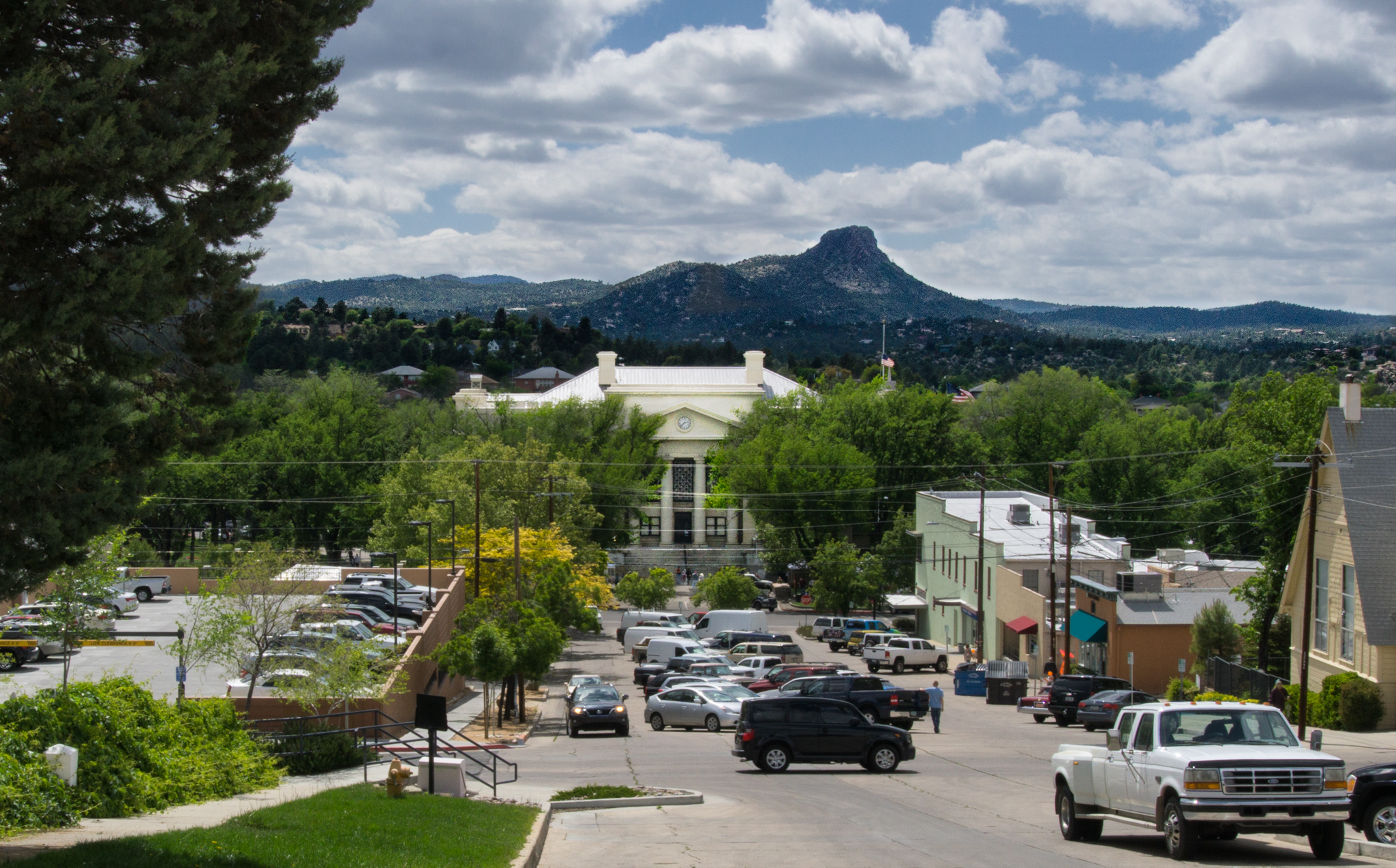 Courthouse and Thumb Butte from East Union St