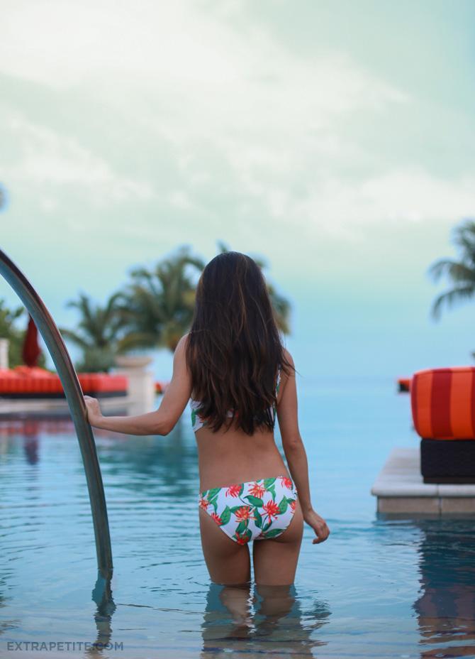 asos floral bikini back