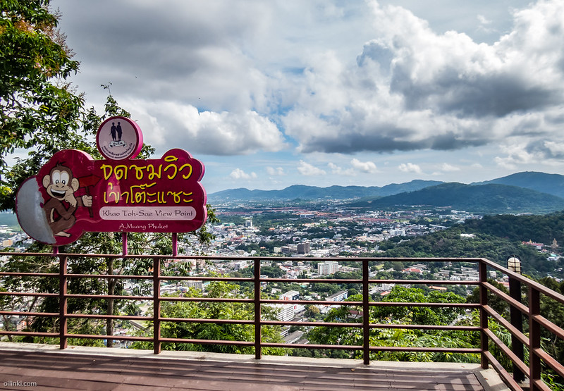 Khao Toh Sae viewpoint at Phuket town, Thailand