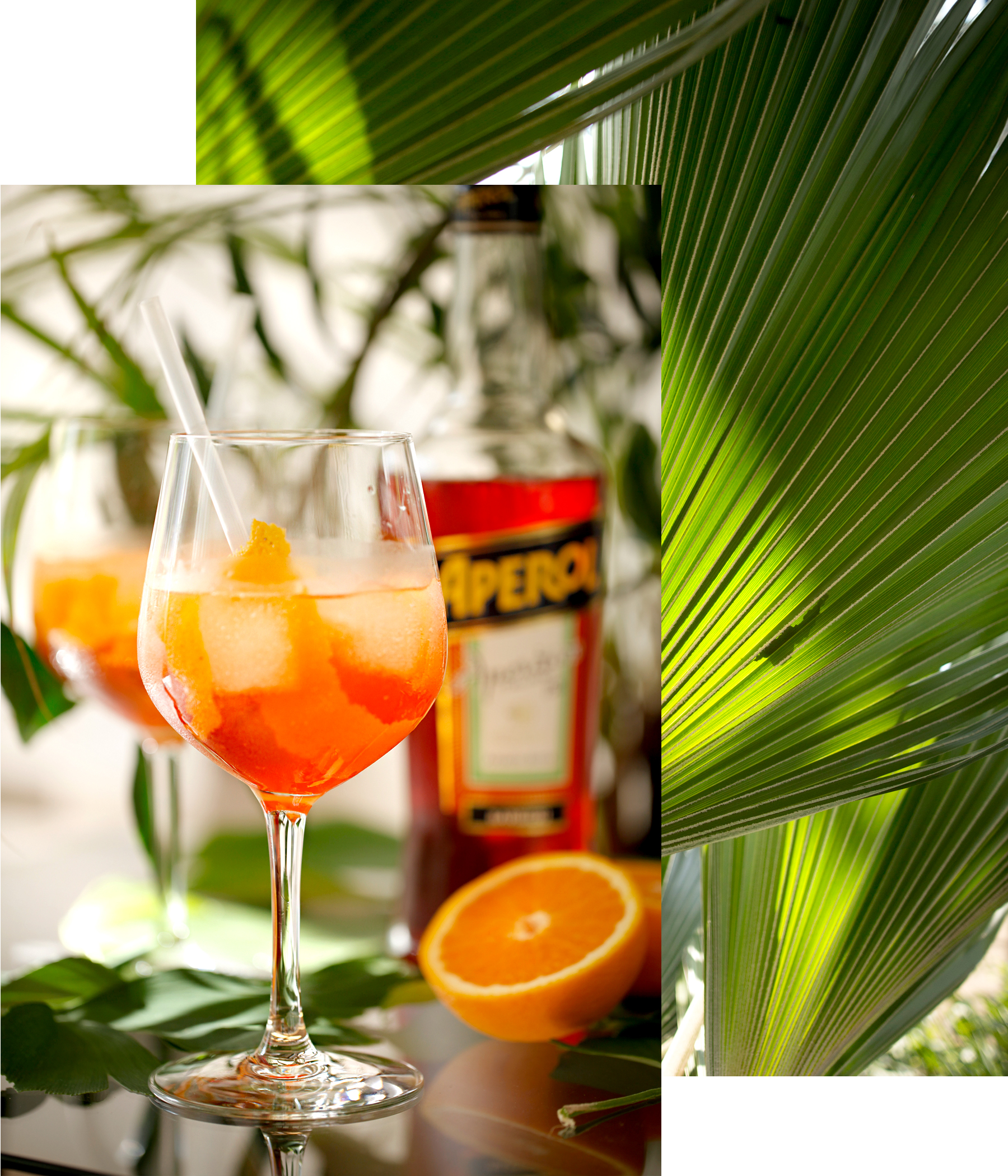 aperol spritz summer aperitif drink cocktail recipe personal urban jungle garden palm tree holiday feeling white crochet dress hm gucci belt saint laurent wedges dionysus ricarda schernus fashionblogger 4
