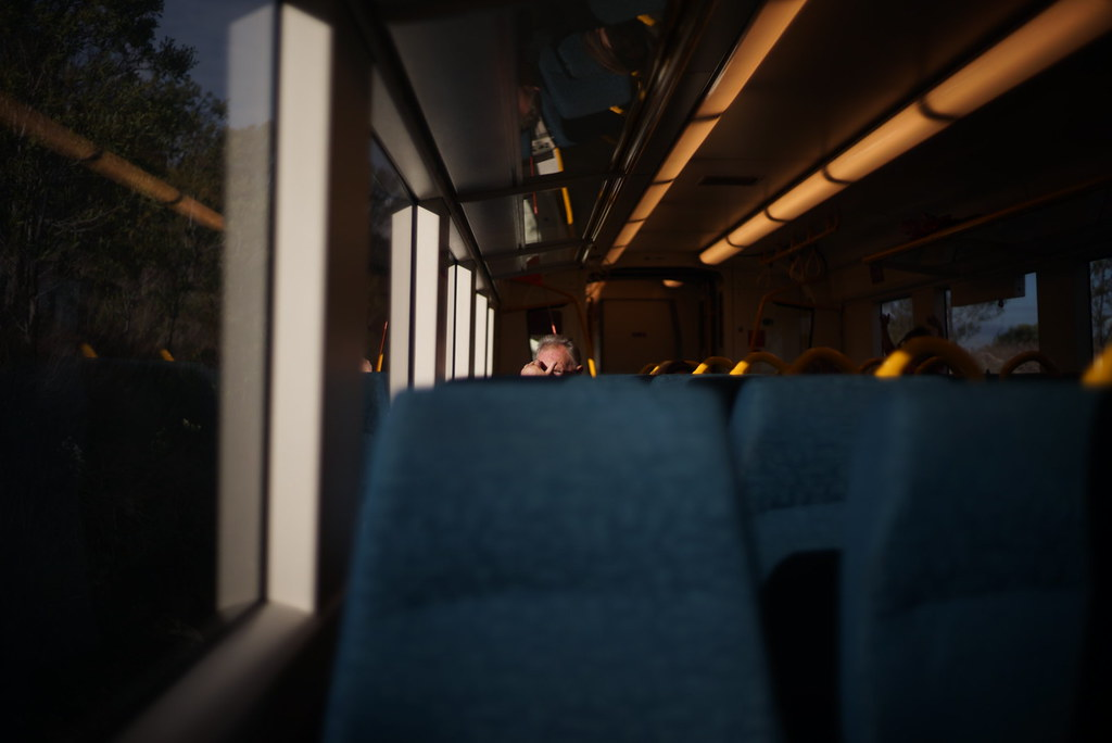 Busted: On the V/Line from Malmsbury. #sonya7 #nokton40mm #nokton #noktonclassic #voigtlander #voigtlandernokton #vline #victoria #australia #foto