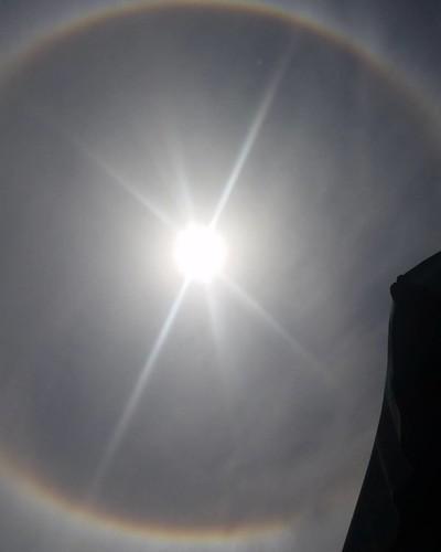 Strano cerchio intorno al sole Montalto #montaltomarina