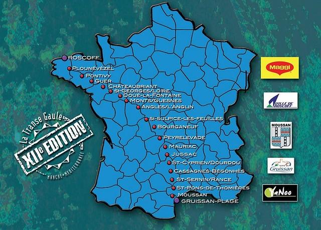 Η διαδρομή του αγώνα ξεκινάει βόρεια από την θάλασσα της Μάγχης και τερματίζει στις ακτές της Μεσογείου στον Γαλλικό νότο!