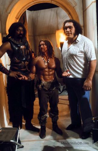 Andre The Giant Wilt Chamberlain Arnold Swarzenegger Conan