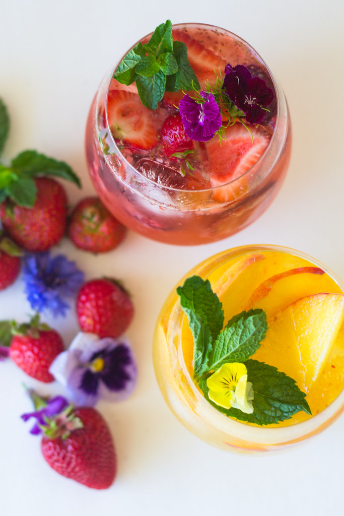 Fruit and Floral Sangria - Two Ways!