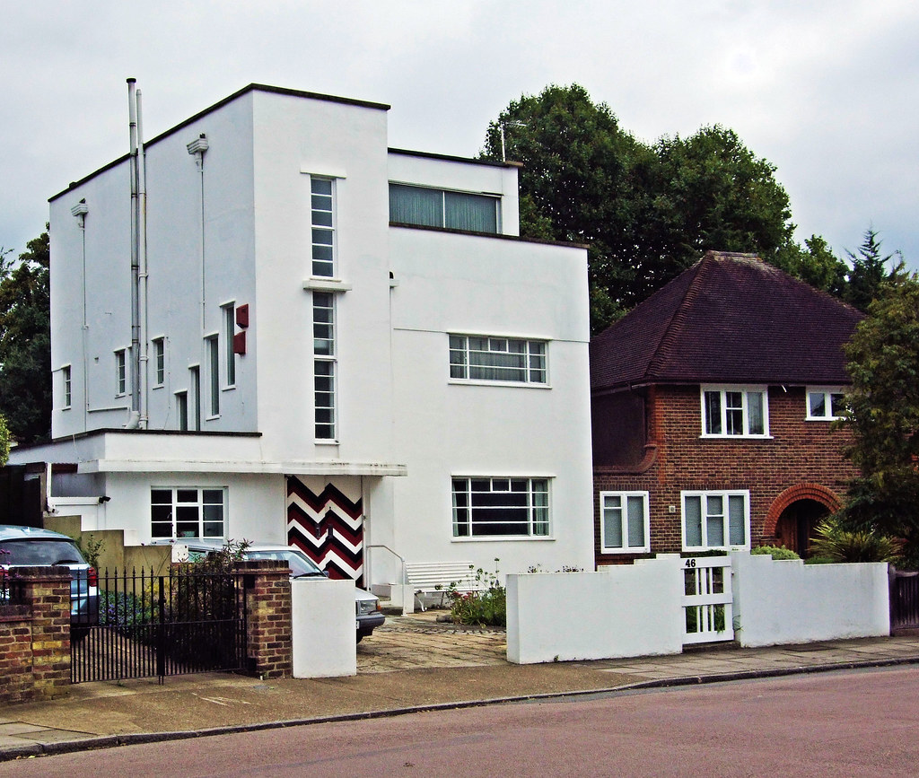 an art deco house in twickenham london jim linwood flickr