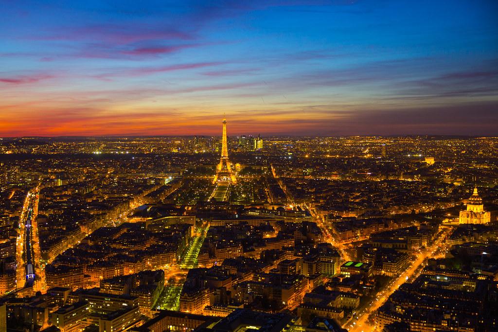 foto de Paris ville lumière Ciel bleu blanc rouge Vue de la tour Flickr