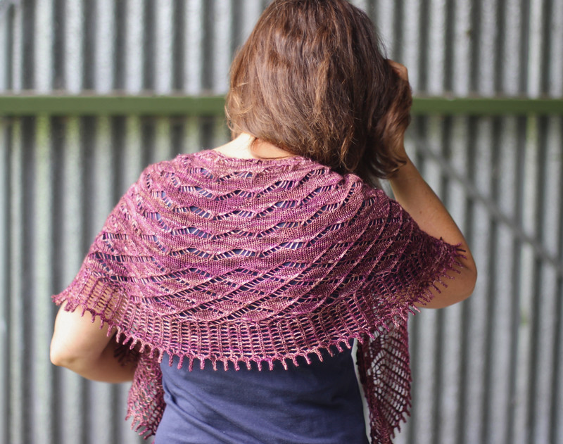 Mindful Shawl by Libby Jonson - Truly Myrtle Designs