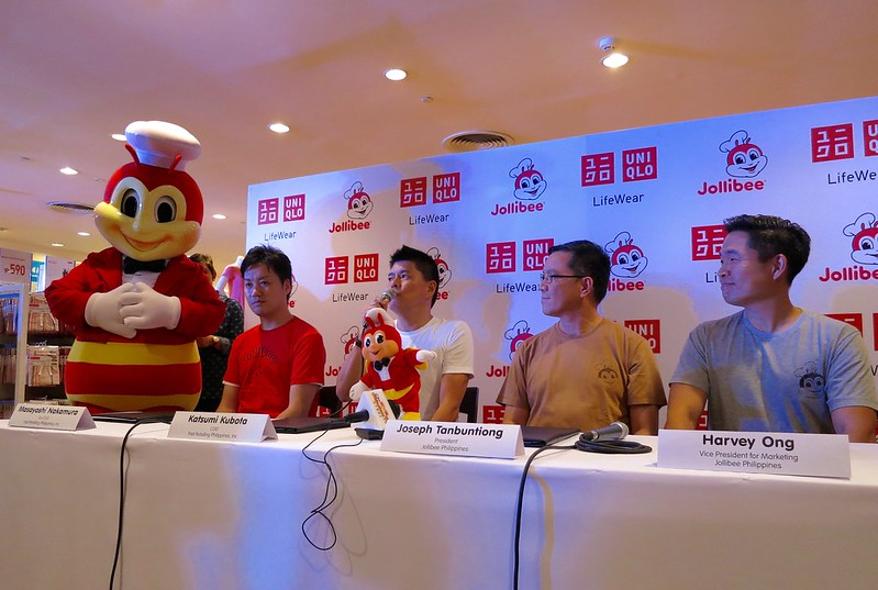 Jollibee drops in at press conference