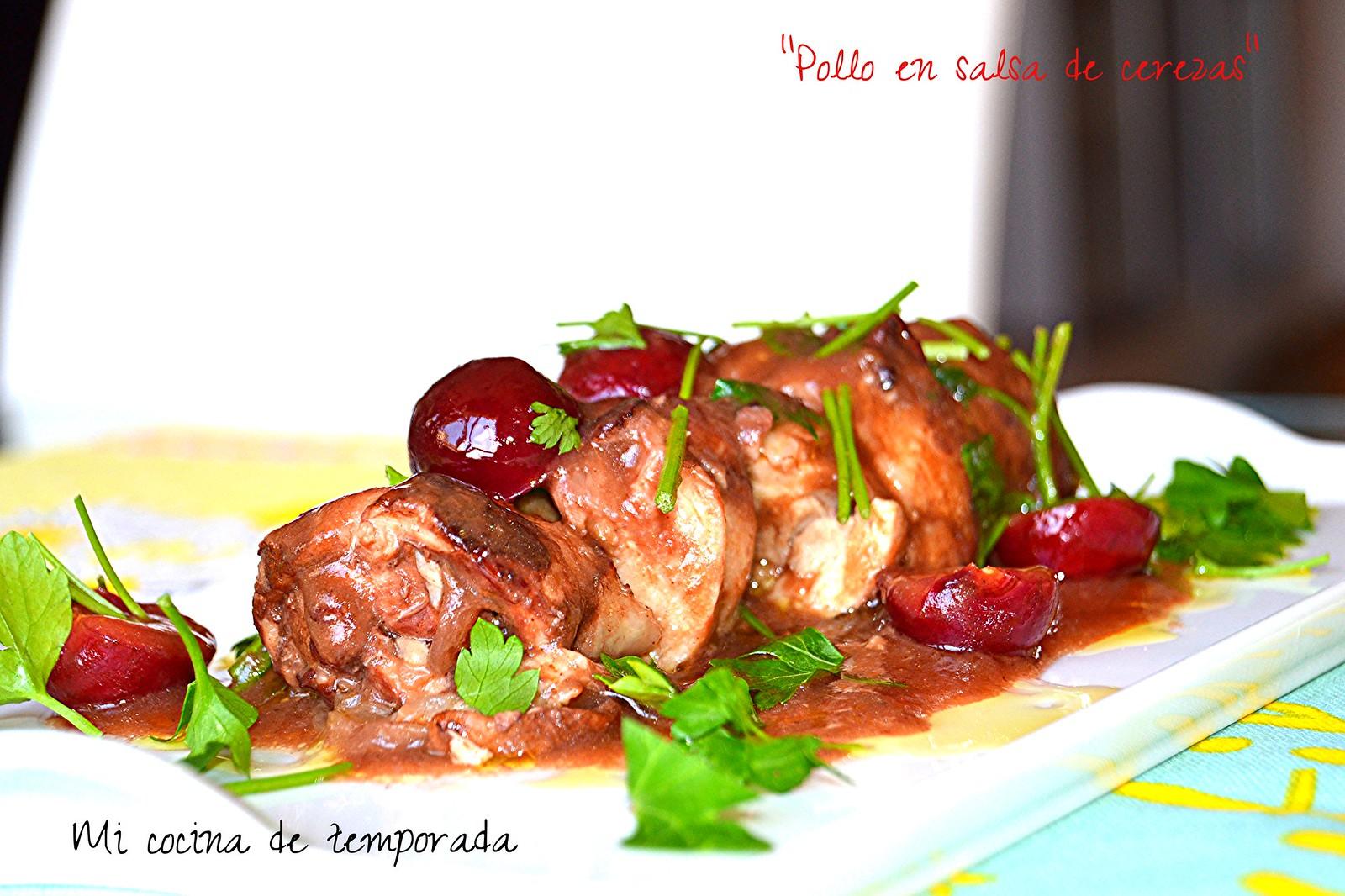 Pollo en salsa de cerezas 006