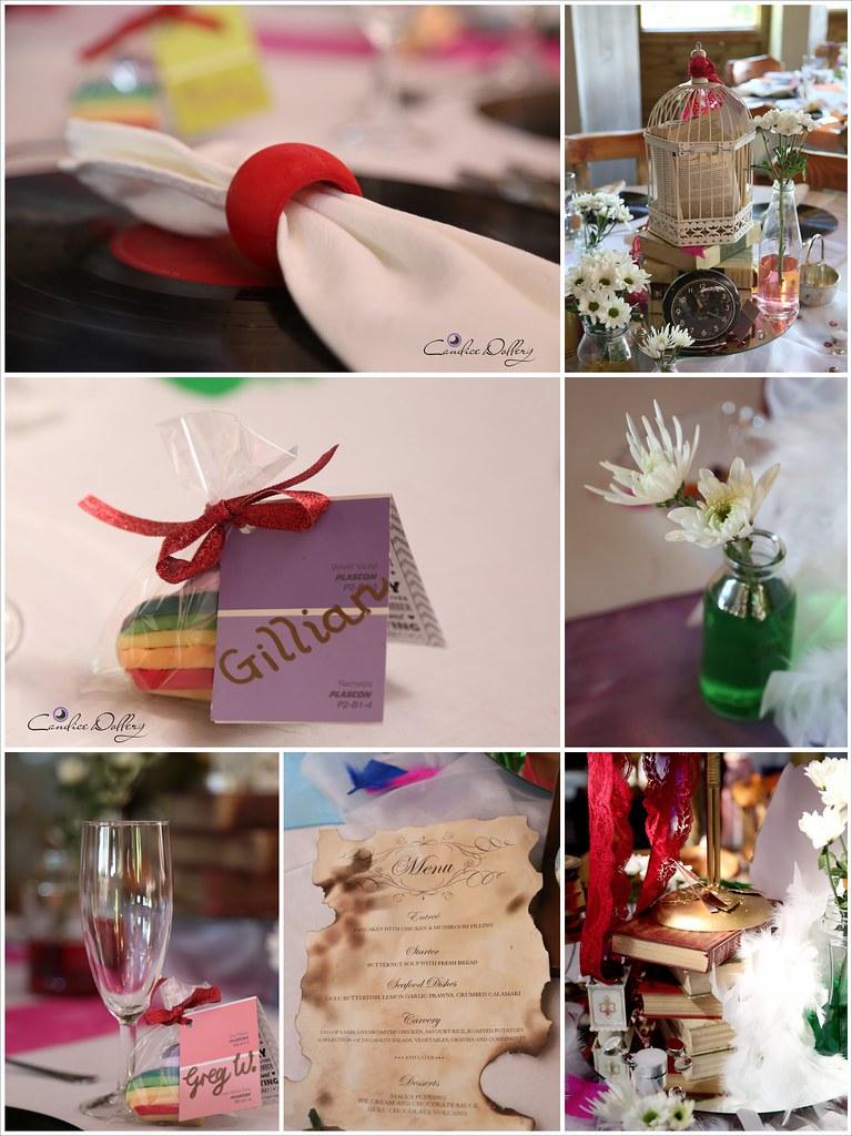 Rainbow wedding with steampunk details from @offbeatbride