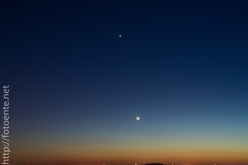 Mond & Venus & Lichtverschmutzung