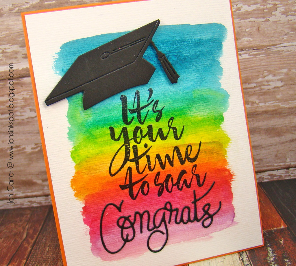 Jen Carter Soar Graduation Card Frantic Stamper 1 Closeup