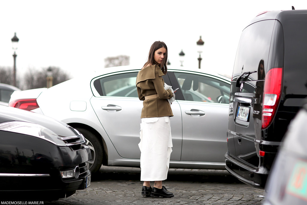 Natasha Goldenberg at Paris fashion week