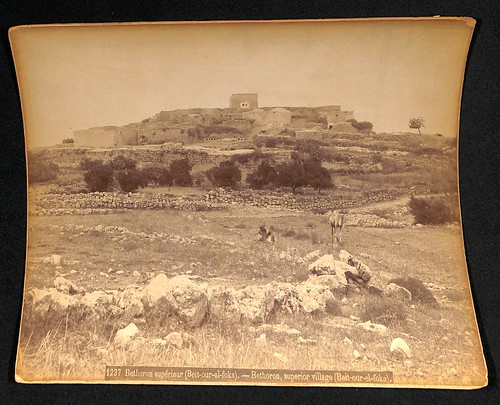 Photograph [97.11.1]: Bonfils, Felix (1831-1886), 1237 Bethoron supérieur (Beit-our-el-foka) - Bethoron, superior village (Beit-our-el-foka)