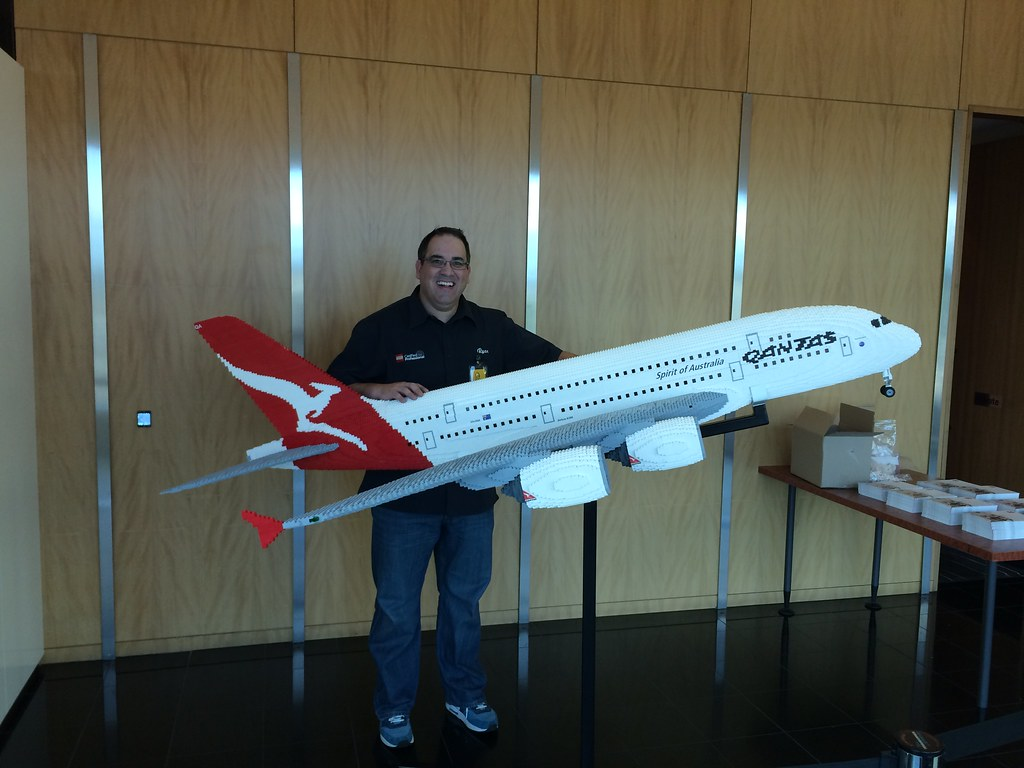 LEGO Qantas A380 | here I am installing our latest model ...