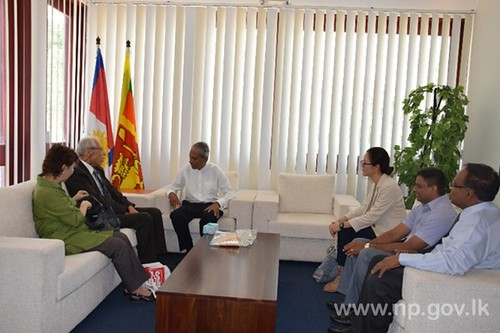 PARCIC (Pacific Asia Resource Center Interpeople's Coorperation) Team calls on Governor