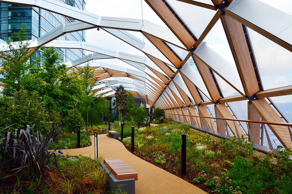 Canary Wharf Station Roof Garden Design Architect
