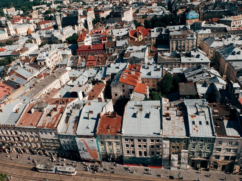 Lviv rooftops