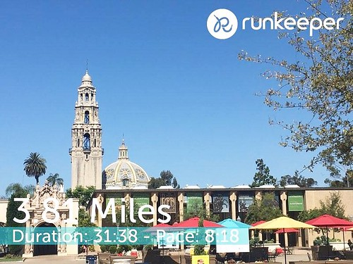 San Diego summer run in Balboa Park