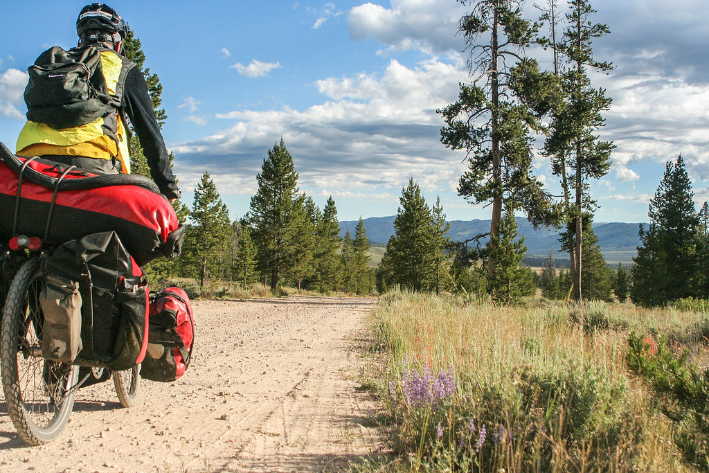 Cycling Idaho Hot Springs Mountain Biking Route in Sawtooth Mountains