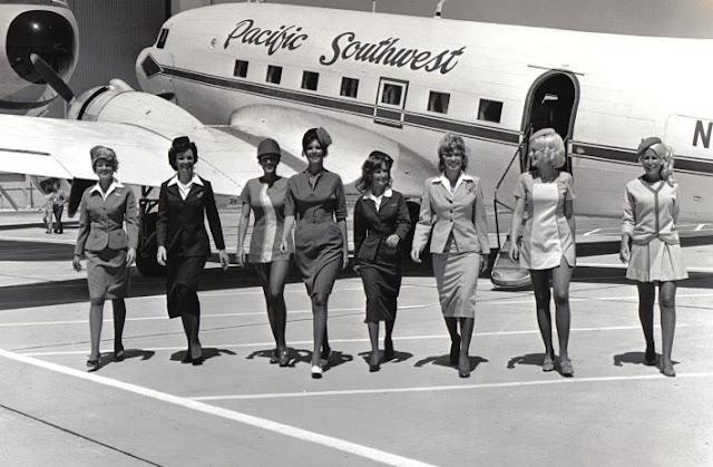 Vintage Flight Attendants Black And White Jenkku2 Flickr
