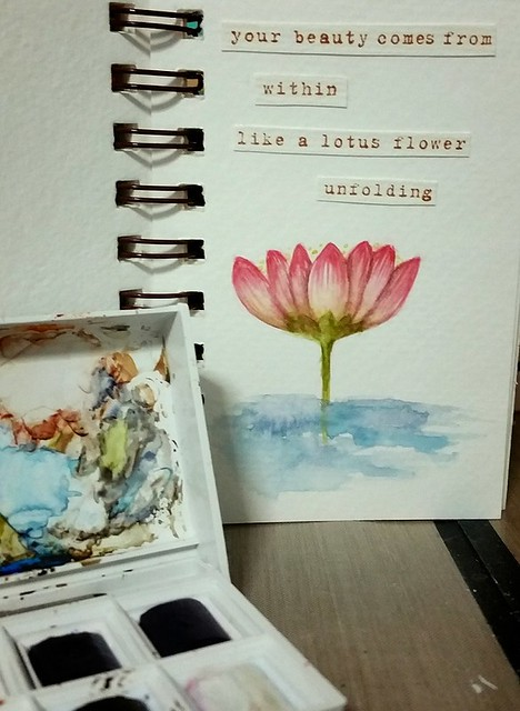 {Like A Lotus} Watercolor