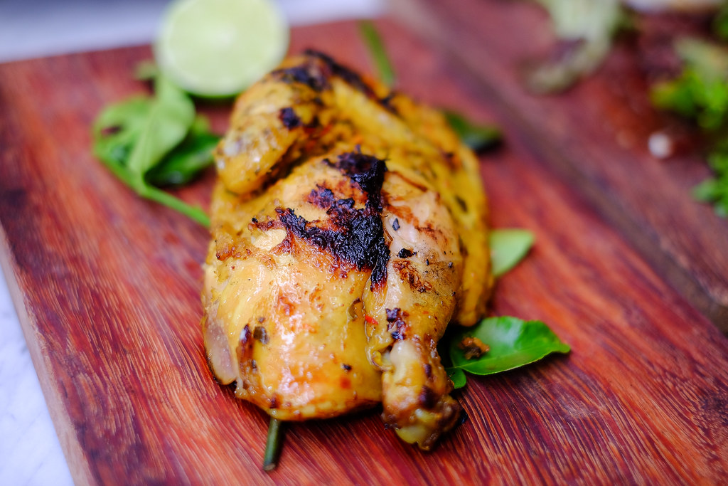 G House: Grilled kaffir lime spiced kampong chicken