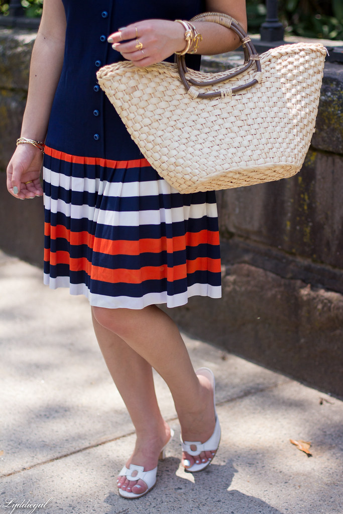 navy drop waist dress, panama hat, straw bag-11.jpg