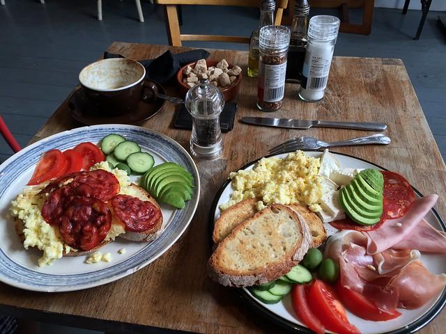 Beautiful breakfasts at Villa D'aversa in Broadway Market